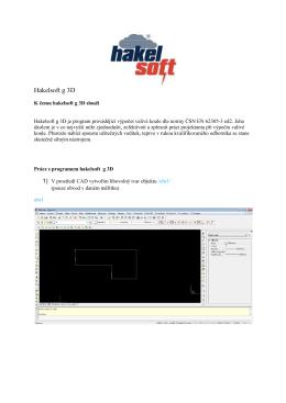 návod - hakelsoft g 3D