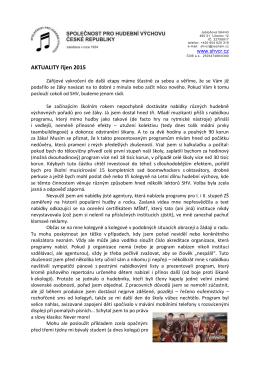 Aktuality - říjen 2015 - Společnost pro hudební výchovu České