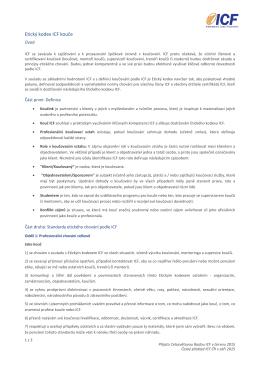 Etický kodex ICF kouče