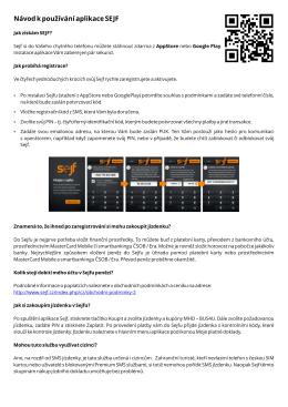 Návod k používání aplikace sejf v PDF
