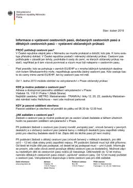 Informace k žádosti o německý cestovní pas