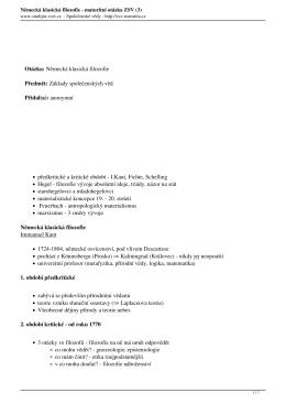Německá klasická filozofie - maturitní otázka ZSV (3)