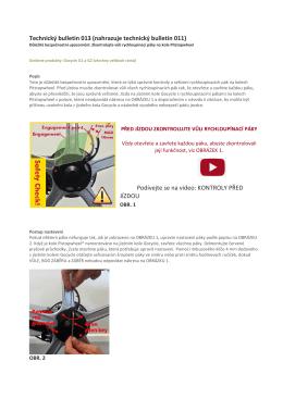 Technický bulletin 013 (nahrazuje technický bulletin 011