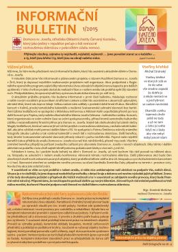 INFORMAČNÍ BULLETIN 1/2015
