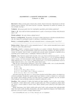ALGORITMY A DATOVÉ STRUKTURY 1 (NTIN060) Cvičení 8. 4