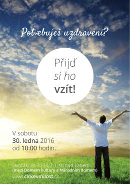 Přijď si ho vzít! - Církev Milost Ústí nad Labem