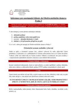 Informace k nástupu do OŠD Praha 3