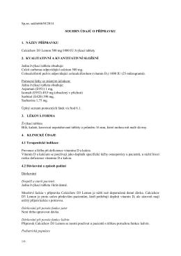 Souhrn údajů o přípravku (Komplexní informace)