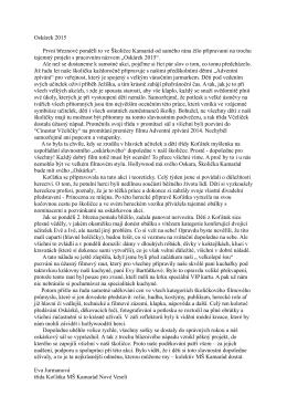 Oskárek 2015 - Mateřská škola KAMARÁD Nové Veselí