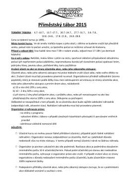 bližší informace - SKI areál Vaňkův kopec