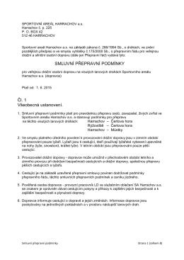 G / /2000 Vzorové smluvní přepravní podmínky pro městskou