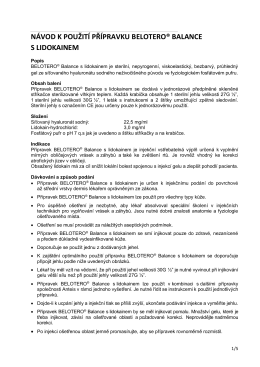 BELOTERO® Balance s lidokainem