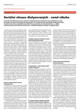Sociální situace dialyzovaných – země nikoho