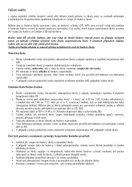 Bezpečnostní opatření - Základní škola a mateřská škola Sazovice