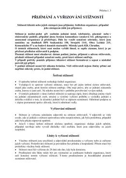 Zpětná informace o poskytování služeb...(PDF | 80 kB)