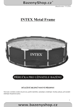 Bazén INTEX Metal Frame