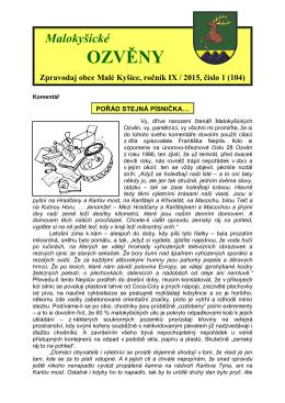 Malokyšické ozvěny č.1 (104)