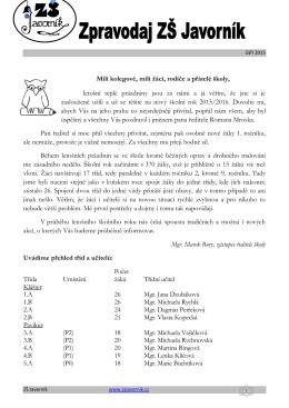 zde. - Základní škola Javorník