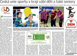Česká unie sportu v kraji vábí děti a také seniory