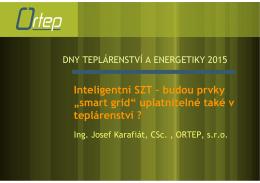 """Inteligentní SZT – budou prvky """"smart grid"""" uplatnitelné také v"""