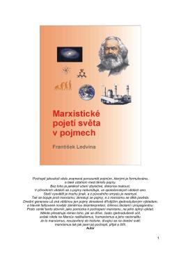 Marxistické pojetí světa - Marxistická filozofie, František Ledvina
