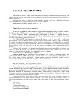 Charakteristika školy - Základní škola Tusarova