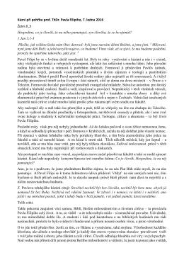 Kázní při pohřbu prof. ThDr. Pavla Filipiho, 7. ledna 2016 Žalm 8 ,5