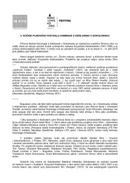 5. tisková zpráva LFŠ 2015