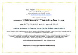 XIV. ročník THEATRUM KUKS představení také v Heřmanicích v