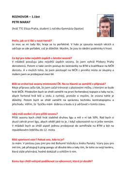 P. Marat - rozhovor