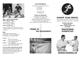 letak nabor.qxd - Karate klub MATSU