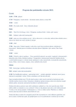 Program dne podzimního retreatu 2015: