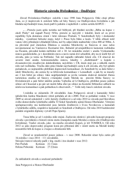 Historie Závodu_Hvězdonice-Ondřejov