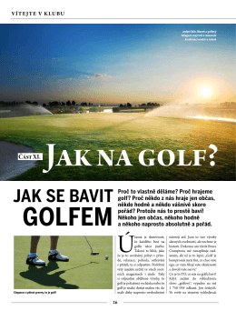 Jak se bavit golfem