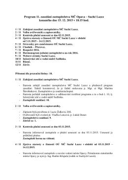 zápis ze dne 15.12.2015 (11. zasedání)