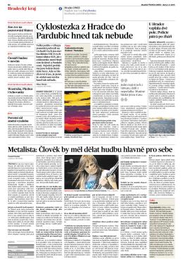 Článek MLADÁ FRONTA DNES – úterý 4. 8. 2015