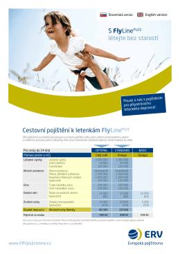 S FlyLinePLUS létejte bez starostí Cestovní pojištění k letenkám