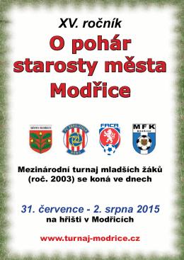 O pohár starosty města Modřice
