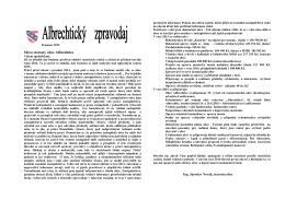 Slovo starosty obce Albrechtice