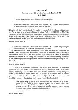USNESENÍ Setkání starostů městských částí Praha 1-57