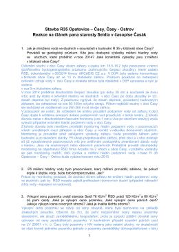 Reakce ŘSD_Časy 9_2015