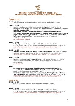 program ke stažení zde - Festival Znojemský hrozen