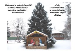 Radostné a pokojné prožití přeje svátků vánočních a starosta obce