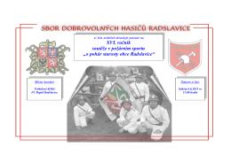 o pohár starosty obce Radslavice