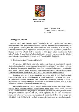 Dopis starostovi Chrastavy
