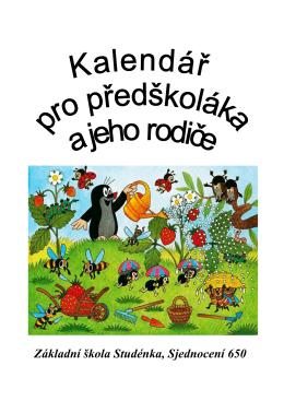 Kalendář pro předškoláka a jeho rodiče