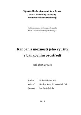 Kanban a možnosti jeho využití v bankovním prostředí