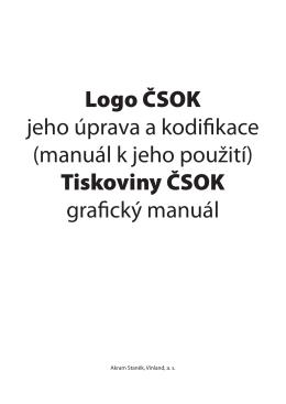 Logo ČSOK jeho úprava a kodifikace (manuál k jeho použití