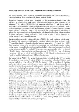 Dotaz: Právní jednání SVJ ve věcech jednotek ve spoluvlastnictví