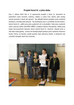 Projekt Karel IV. a jeho doba